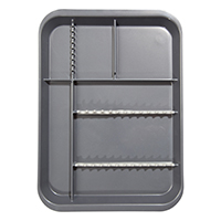 9521765 B-Lok Divided Setup Trays Gray, 20Z451I
