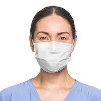 9900085 FLUIDSHIELD Procedure Mask Level 1, Fog-Free, White, 50/Box, 41802