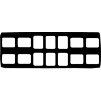 9084085 Cardboard X-Ray Mounts 8H  #2, 6V  #2, 100/Pkg., 14-6V