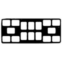 8854095 EZ-Tab Gray Plastic Series 16-6V for #2 film, 100/Pkg., 30-6162