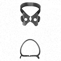 8431795 Black Line Rubber Dam Clamps #0, RDCM0X