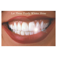 3315006 Let Those Pearly Whites Shine Postcard Smile w/Teeth Postcard, 250/Pkg., RC5190