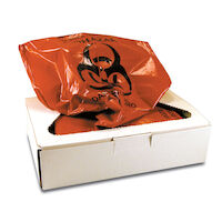 9903806 ProTector Infectious Waste Bags 25 Gallon, Red, 50/Pkg., PW2010