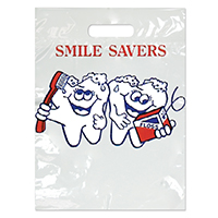 "3310026 Specialty Bags 100 Count Smile Savers, 7½"" x 9"", 100/Pkg."