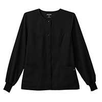 4950226 Snap Closure Jacket Style 2356 Black, Medium, Snap Closure Jacket, 2356-015-M