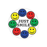 3313226 Assorted Stickers Just Smile, 100/Roll, PS119