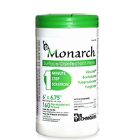 "9460136 Monarch Surface Disinfectant Wipes 6"" x 6.75"", 160/Can, H6186"