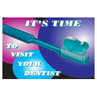 3315136 It's Time to Visit Your Dentist Postcard Brush/Paste Postcards, 250/Pkg., RC3551