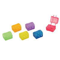 "3310236 Tooth Savers Glitter Chest, 1"", Assorted Colors, 144/Pkg."