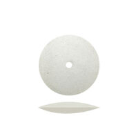 "8230436 Rubber Wheels 5/8"", White Flexies Knife Edge, 100/Box, 4981"