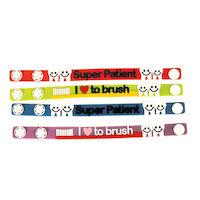 """3310836 Dental Bracelets Bracelet w/Saying, 7.5"""" by 0.5"""", 24/Pkg."""