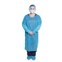 6600836 ISOLATION GOWN, 050BX, 1, Blue, 301BL