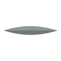 9591046 NTI Silicone Gray Super High Shine Polishers Knife, P0322, 220, Unmounted, Gray, 10/Pkg.