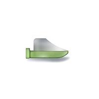 8390146 FenderWedges Medium, Green, 60/Box, TSGR