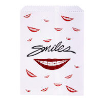 5250246 Paper Scatter Bags Smile with Braces Design,100/Pkg.,S8634