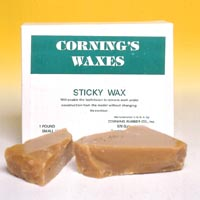 9522446 Corning Waxes Sticky Wax, Yellow, 1 lb., 154