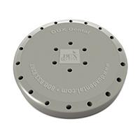 9558546 Round Magnetic Bur Blocks 24-Hole, Gray, 31010