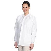 9510646 Extra Safe Jackets Medium, White, 10/Pkg, 3630WHM