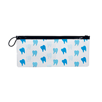 """3310846 Vinyl Pouches Tooth Scatter Pouch, 10""""W x 4""""H, 144/Pkg."""