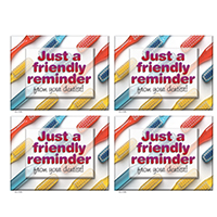 3315056 A Friendly Reminder Postcard From Your Dentist, 4-UP, 200/Pkg.