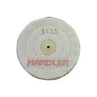 "5251256 Cotton Polishing Buffing Wheels Cotton Buff 3"" 35 PLY 3 Row,6/Box,B103-353-6"