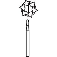 8647356 Oral Surgical Carbide Burs FG Taper Round End CrossCut, 2.1, 1703, 10/Pkg., 389685