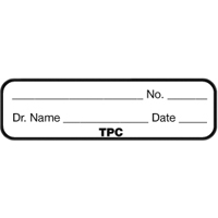 9547556 Clear Pocket Plastic Film Mounts Name Tags, 100/Pkg., CPTAG