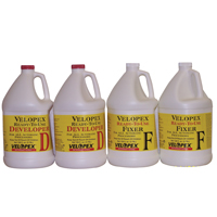 9545856 Velopex Developer & Fixer, 2 Gallons each, 4/Case, FGC04128