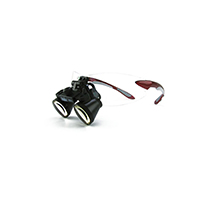 """9900956 Loupes Red Frame, 2.5x Kit, 16""""-20"""" Distance, 1-5003"""