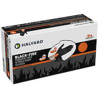 2211366 Black-Fire Nitrile Exam Gloves Small, 150/Box, 44756