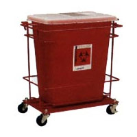 9902666 SharpSafety Sharps Containers Floor Cart for Large Volume Container, 8992-H