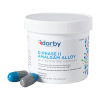 9526966 D-Phase II Amalgam Alloy Regular Set, Two Spill, 600mg, Navy/Gray, 50/Pkg