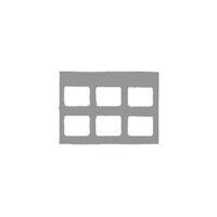 9522676 Klear-Vue Cardboard 6H, 100/Box, 25215