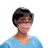 9329676 FLUIDSHIELD Procedure Mask Orange, Level 3, 25/Box, 47147