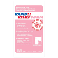 "9514876 Rapid Relief Cold and Warm Packs Warm Pack, 4"" x 6"", 50/Pkg., 44446"