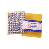 9500786 Aluminum Crowns Pre-Formed 18, 25/Box