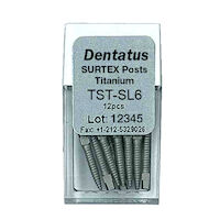 9520096 Surtex Titanium Post Refills SL6, S-Long, 17.0 mm, 12/Pkg., TST-SL6