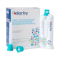9515196 Vinyl Polysiloxane Bite Registration Impression Material Fast Set, Raspberry, 50 ml, 2/Box
