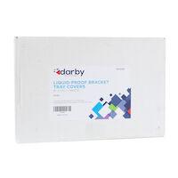 "9539996 Liquid-Proof Bracket Tray Covers 9"" x 13 1/2"", White, 500/Box"