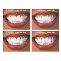 3315007 Let Those Pearly Whites Shine Postcard Laser Smile w/Teeth Postcard, 200/Pkg., RC3239
