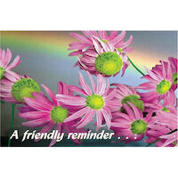 3315117 A Friendly Reminder Postcard Laser Flowers, 4-UP, 200/Pkg.