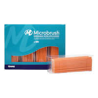 9532527 Microbrush Plus Regular, Applicators, Peach, 400/Pkg, PR400PE