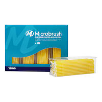 9532537 Microbrush Plus Fine, Applicators, Yellow, 400/Pkg, PF400YE
