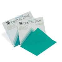"8441837 Hygenic Non-Latex Dental Dam 6"" x 6"", Medium, Green, 75/Box, H09106"