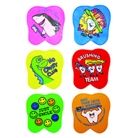 """3310147 Tooth Erasers 1.5"""", Assorted Messages Erasers, 72/Pkg."""