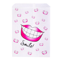 5250247 Paper Scatter Bags Big Lips Smile Design,100/Pkg.,S8635
