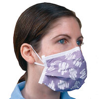 """2211057 Alpha ProTech Critical Cover PFL Face Masks 8"""", Face Mask with Earloops,50/Box,Purple,615PD"""