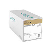 "3971077 Look Chromic Gut Sutures 4-0, C6, 18"", 12/Pkg., 558B"