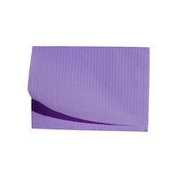 "5250597 Disposable Patient Bibs Disposable Patient Bibs,13"" x 18"",125/Pkg. ,Lavender,27405"