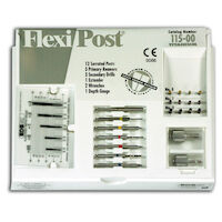 9530597 Flexi-Post Assorted Kits Titanium, Sizes 0-1-2, (Yellow, Red, Blue), 115-00